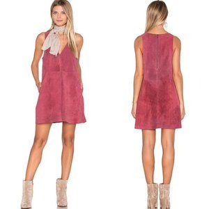 FREE PEOPLE Retro Love Suede Dress in Rose